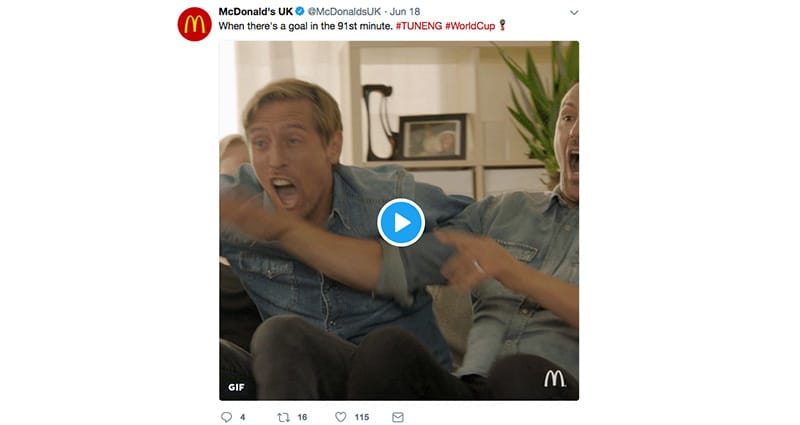 McDonalds Tweet for World Cup 2018