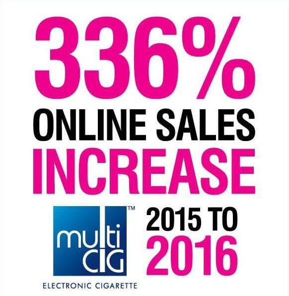 Online Sales Increases for MultiCig